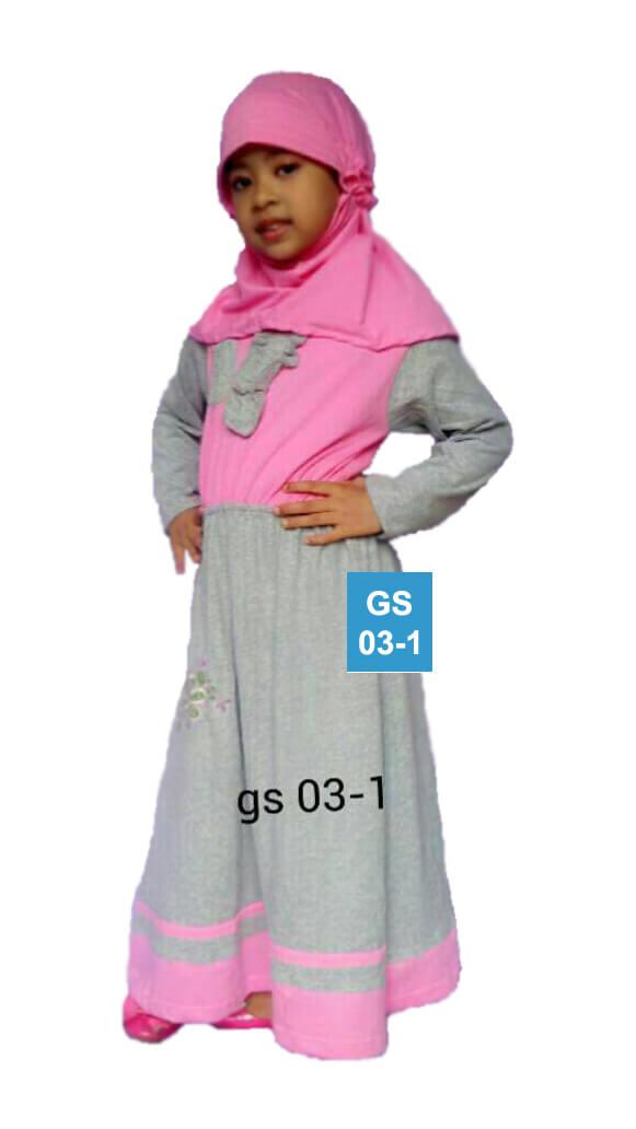 Gamis anak kaos poeti gs03 geraipoeti Baju gamis anak kaos