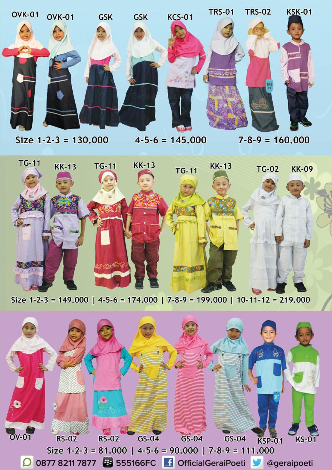 Katalog Baju Muslim Anak dan Dewasa GeraiPoeti Collection 2016 page 2
