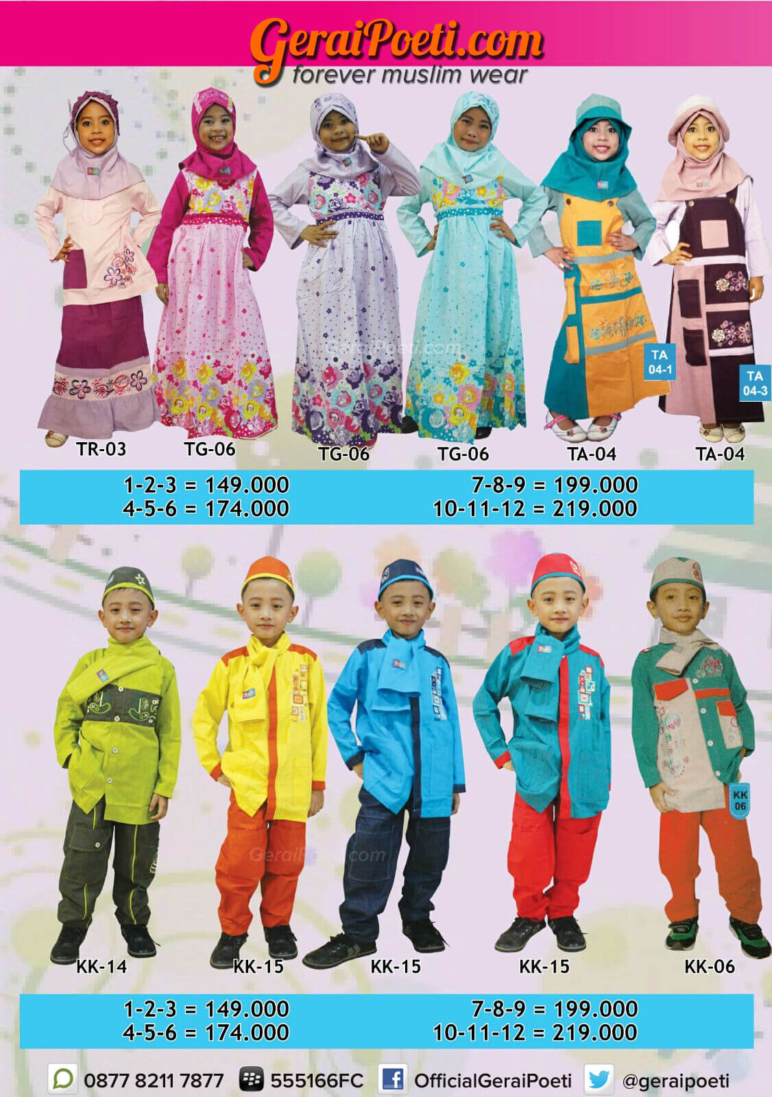 Katalog Baju Muslim Anak dan Dewasa GeraiPoeti Collection 2016 page 3