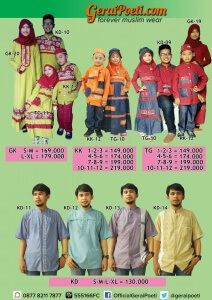 Katalog Baju Muslim Anak dan Dewasa GeraiPoeti Collection 2016 page 4
