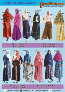 Katalog Baju Muslim Anak dan Dewasa GeraiPoeti Collection 2016 page 6