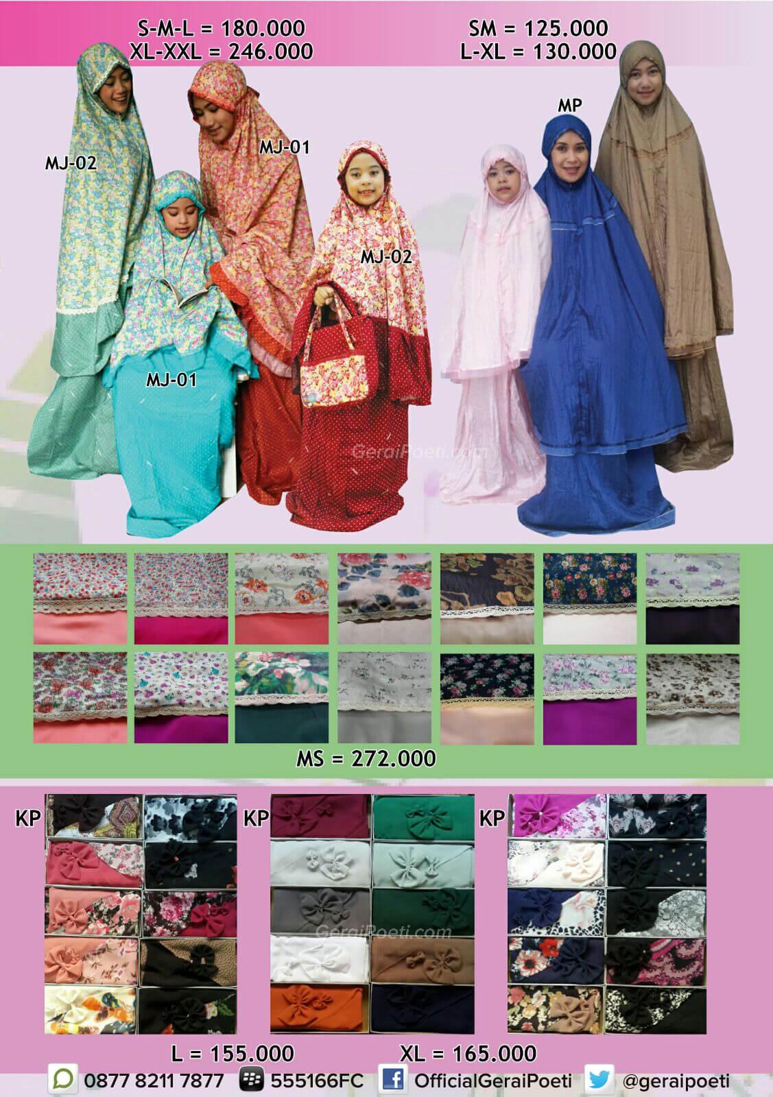 Katalog Baju Muslim Anak Dan Dewasa Geraipoeti Collection