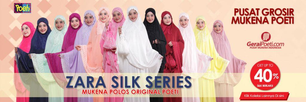 Koleksi Mukena Polos Mukena Zara Silk Poeti - Koleksi Model Mukena Terbaru 2019